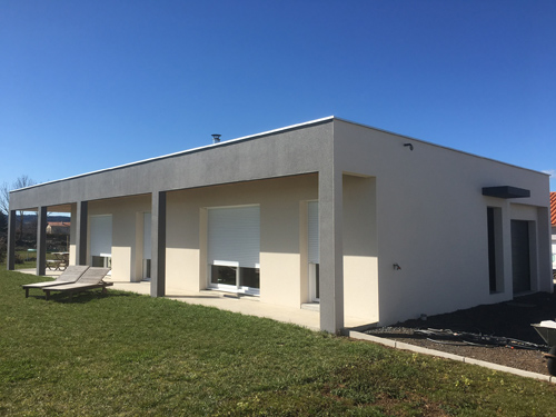 Enduit hydraulique – Villa neuve au Puy-en-Velay