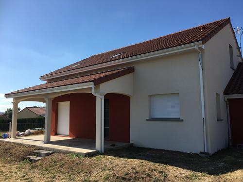 Enduit hydraulique – Villa neuve au Puy