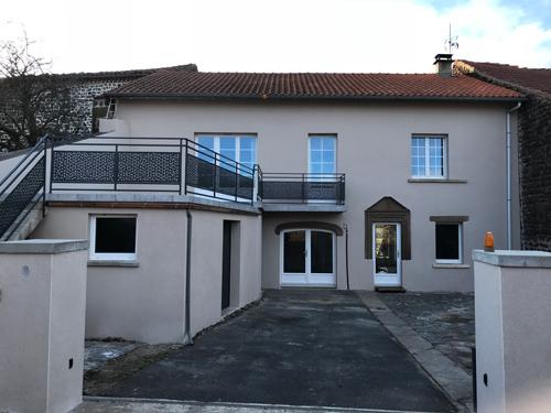 Enduit hydraulique – Villa rénovée à Sanssac